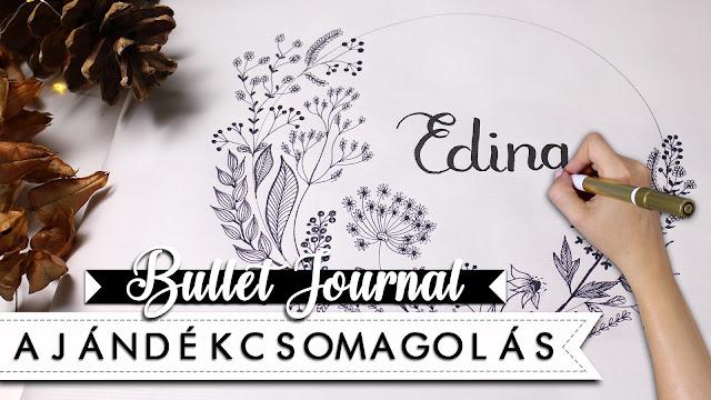 diy wrapping paper bullet journal style ajándék csomagolás ötletek