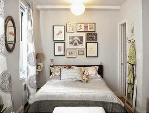 Small bedroom with beautiful impression