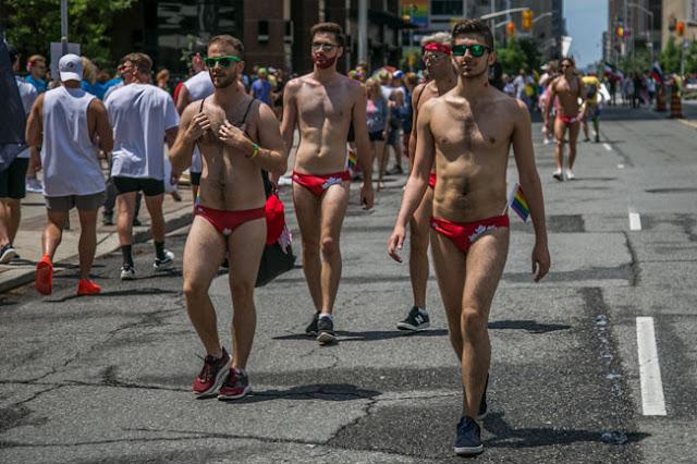 Toronto Pride Parade 2017 men underwear