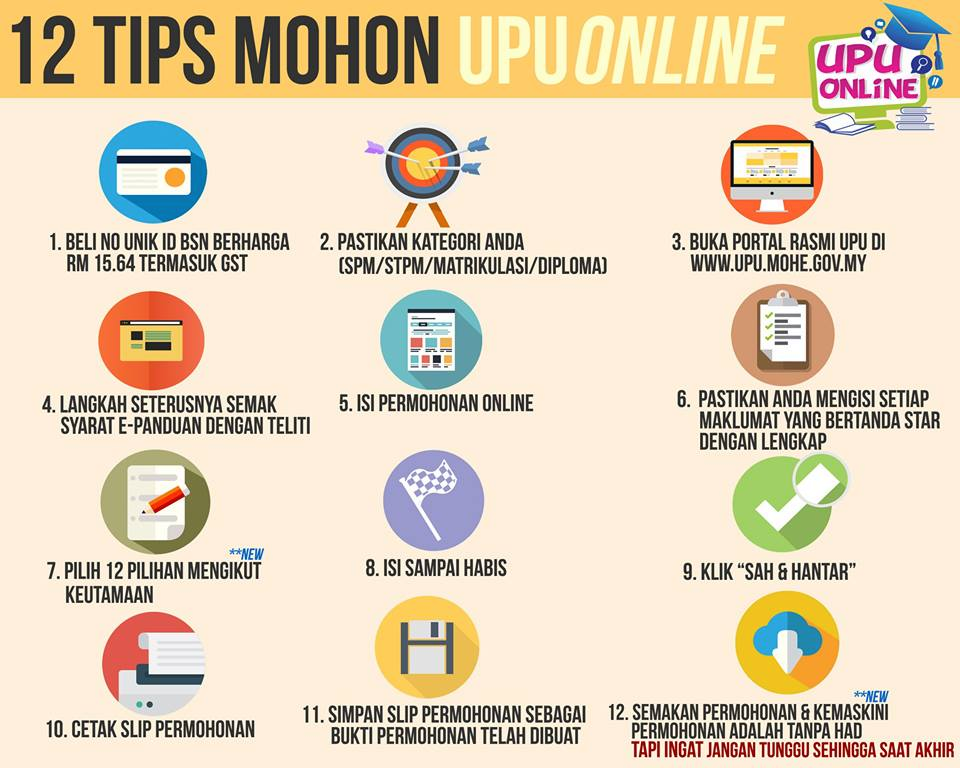 tips mohon upu online