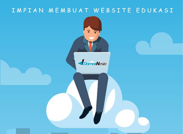 membuat website edukasi bersama domainesia