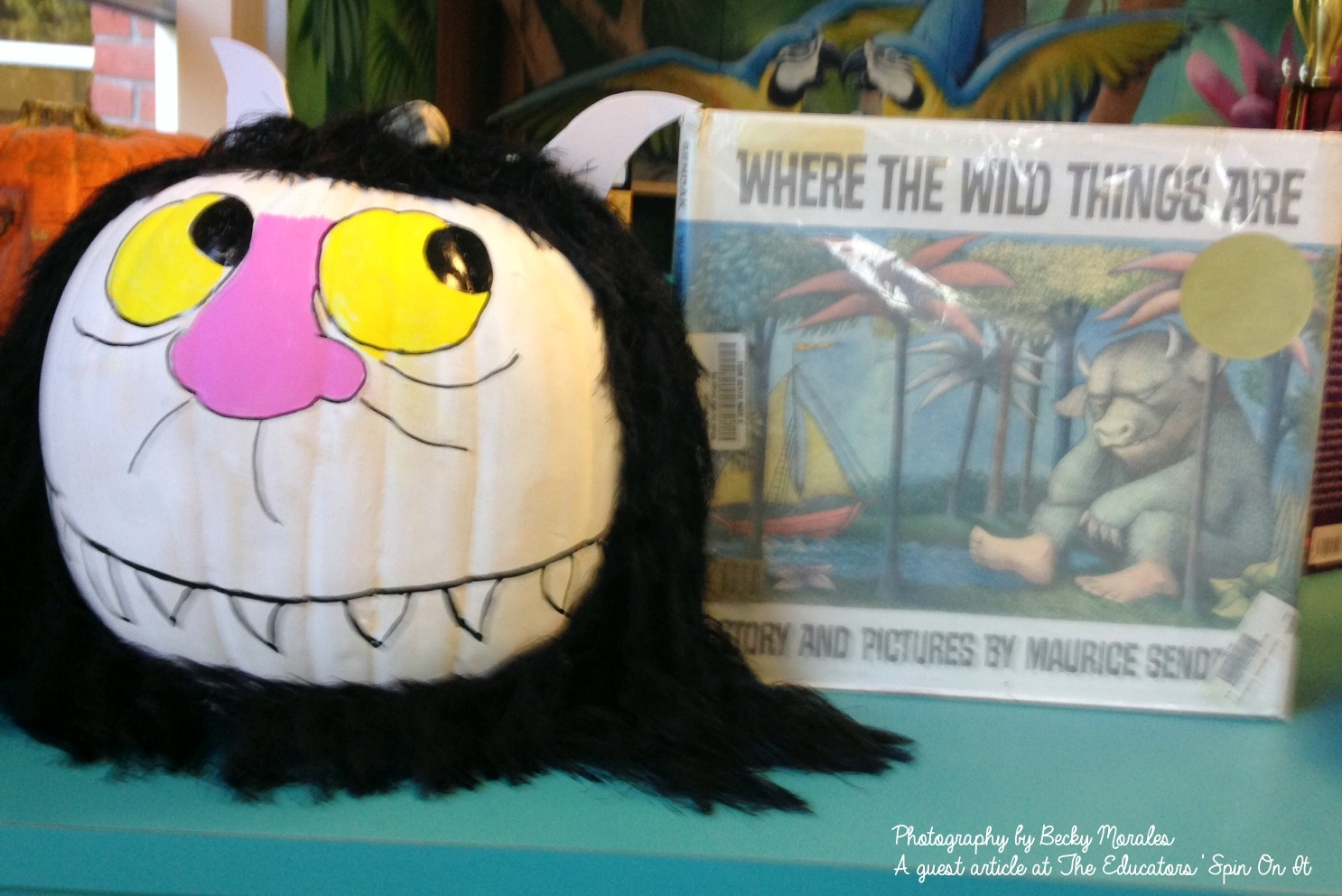 Directions on how to make the Where the Wild Things Are inspired Story Book Pumpkin Character: