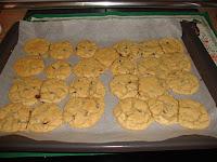 cookies americanas en el horno