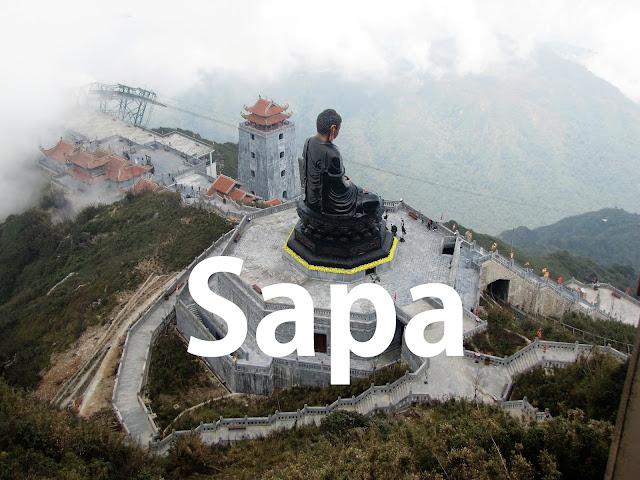 aerial view amitabha buddha statue fanispan sapa vietnam
