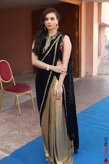 Priyanka Ramana in Beautiful Designer Black Saree At We Craft Elegance Expo Launch 053.JPG