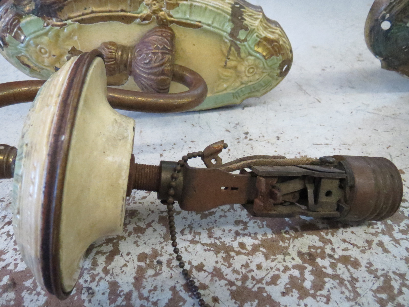 Antique Wall Light Parts : Lamp Parts and Repair Lamp Doctor: Repaired Antique Wall Sconces Get a New Chance on the Wall