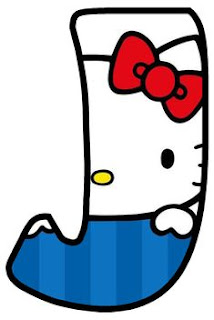 Abecedario de Hello Kitty. Hello Kitty Alphabet.