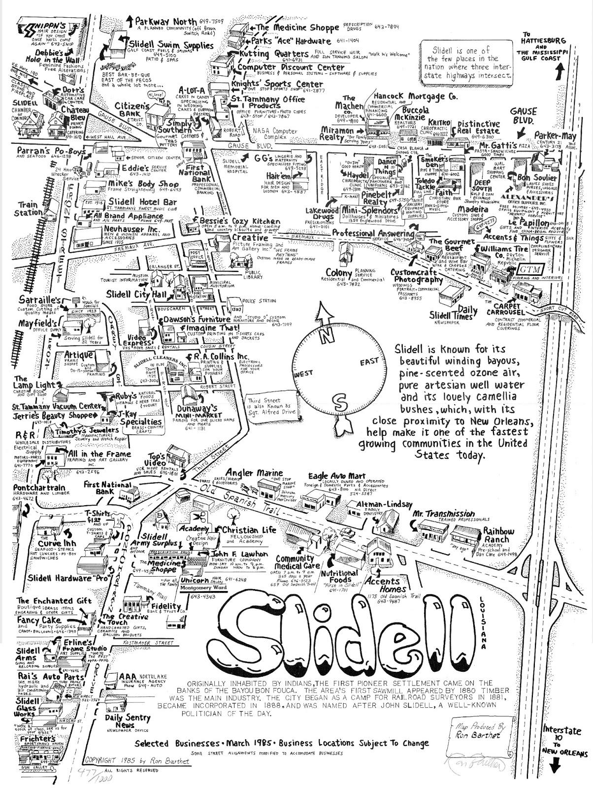 Tammany Family: Slidell Map - 1985 on