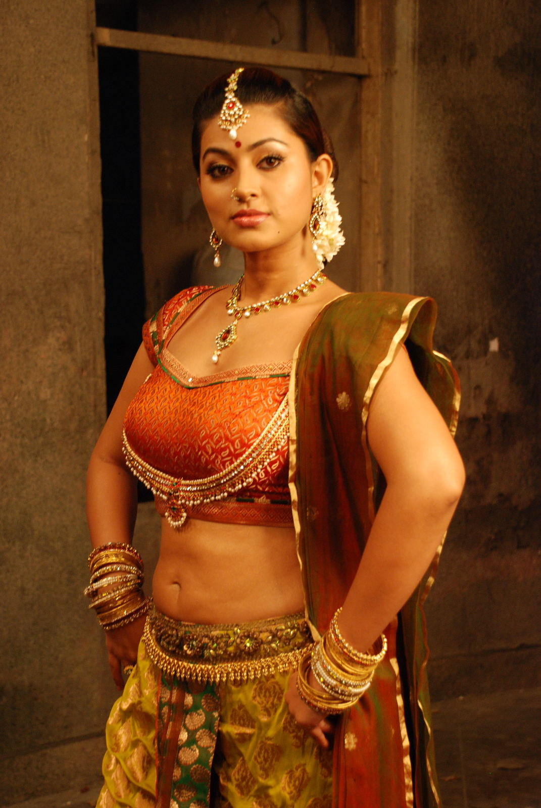 Tamil Actress Gorgeous Sneha Beautiful Hot Stills Ponnar -5215