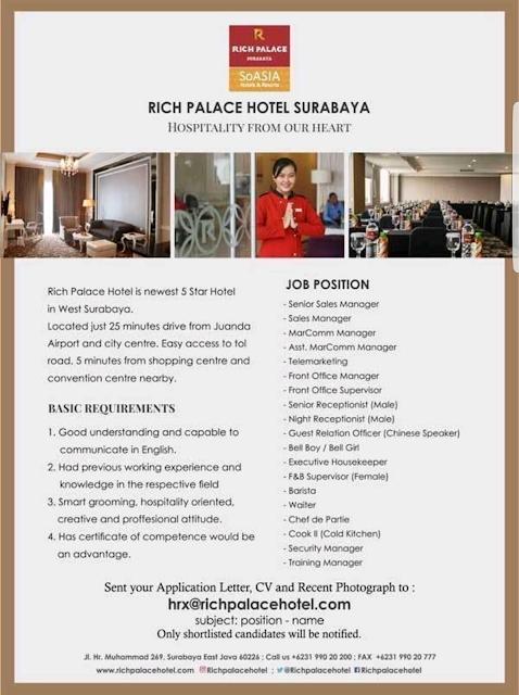 Lowongan Kerja Hotel di Surabaya