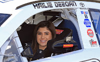 #NASCAR - Fans get to see Hailie Deegan back in action after becoming the first woman to win in the #KNWest series.