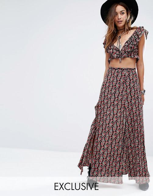 faldas largas para mujeres bajitas