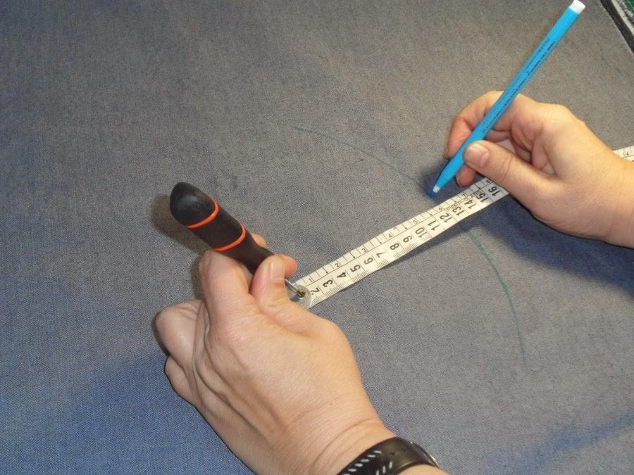 como dibujar un circulo en la tela