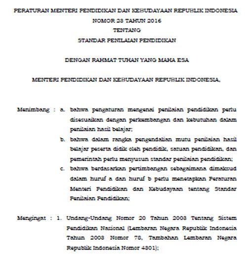 Image Result For Download Permendikbud Laporan Hasil Belajara
