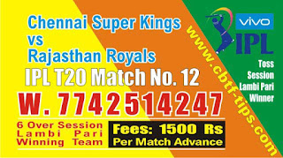 IPL 2019 12th Match Prediction Tips by Experts CSK vs RR