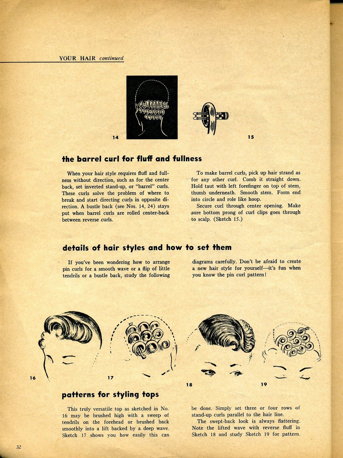 pin curl diagram curiosity rover emily 39s vintage visions great hair fridays setting
