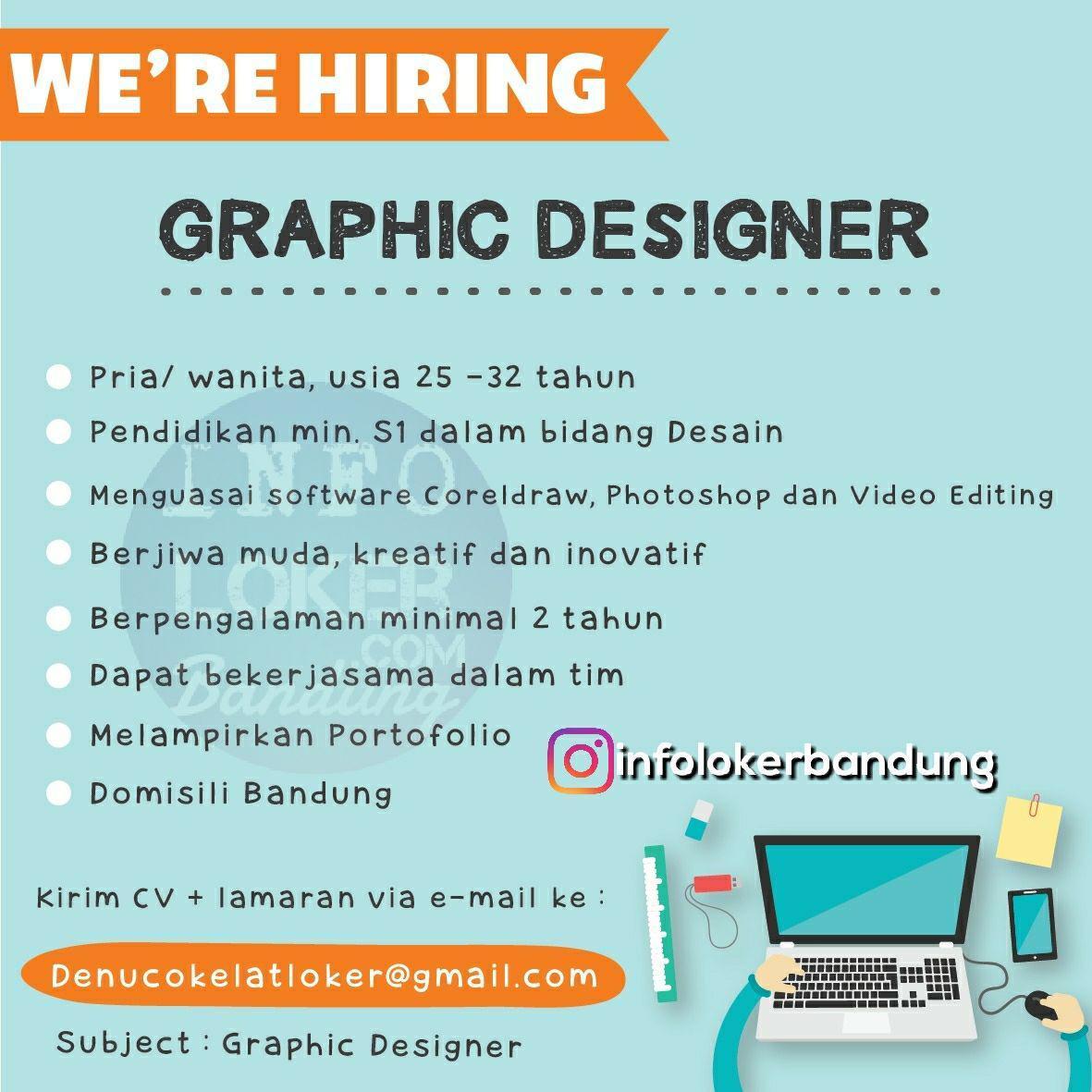 Lowongan Kerja Graphic Deigner Denu Cokelat Bandung Februari 2018