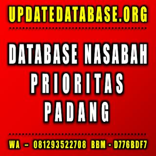 Jual Database Nasabah Padang