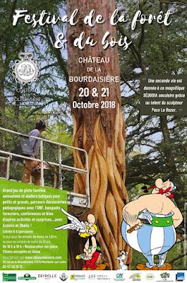 3éme édition du Festival de la Forêt et du Bois les 20 et 21 octobre 2018 au Château de la Bourdaisière