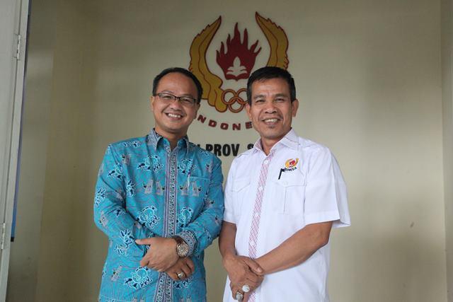 PLT Ketua Umum KONI Provinsi Sumatera Barat bersama Ketua DPRD Kabupaten Solok