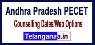 AP Andhra Pradesh PECET 2017 Counselling Dates/Web Options