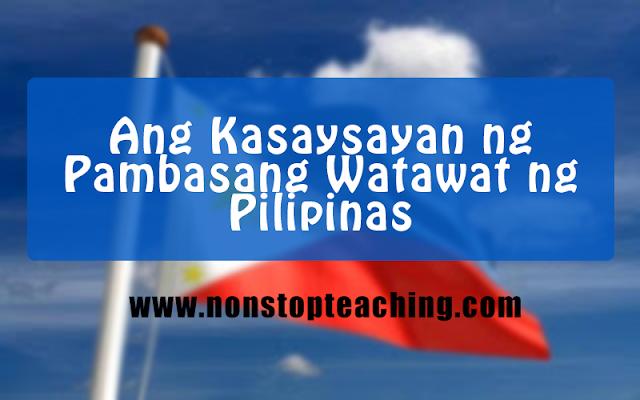 Kasaysayan ng Pambansang Watawat ng Pilipinas