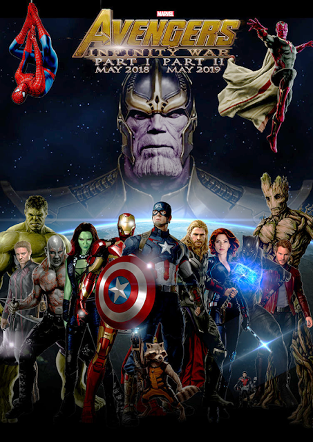 Poster The Avengers: Infinity War Part I şi Part II