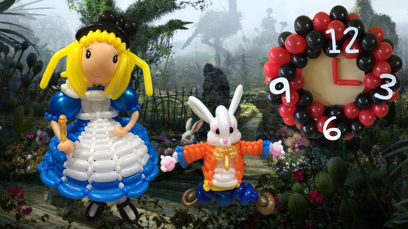 氣球愛麗絲夢遊仙境場地佈置