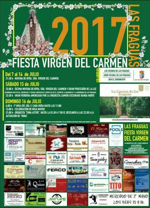 Fiestas de Nuestra Señora del Carmen en Las Fraguas 2017