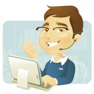 gambar main komputer kartun