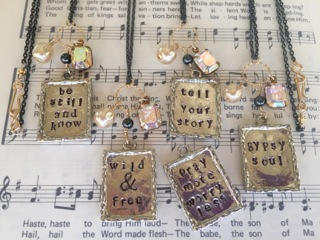 Featured Maker: Angelic Whimsey Metal Stamped Jewelry Pieces