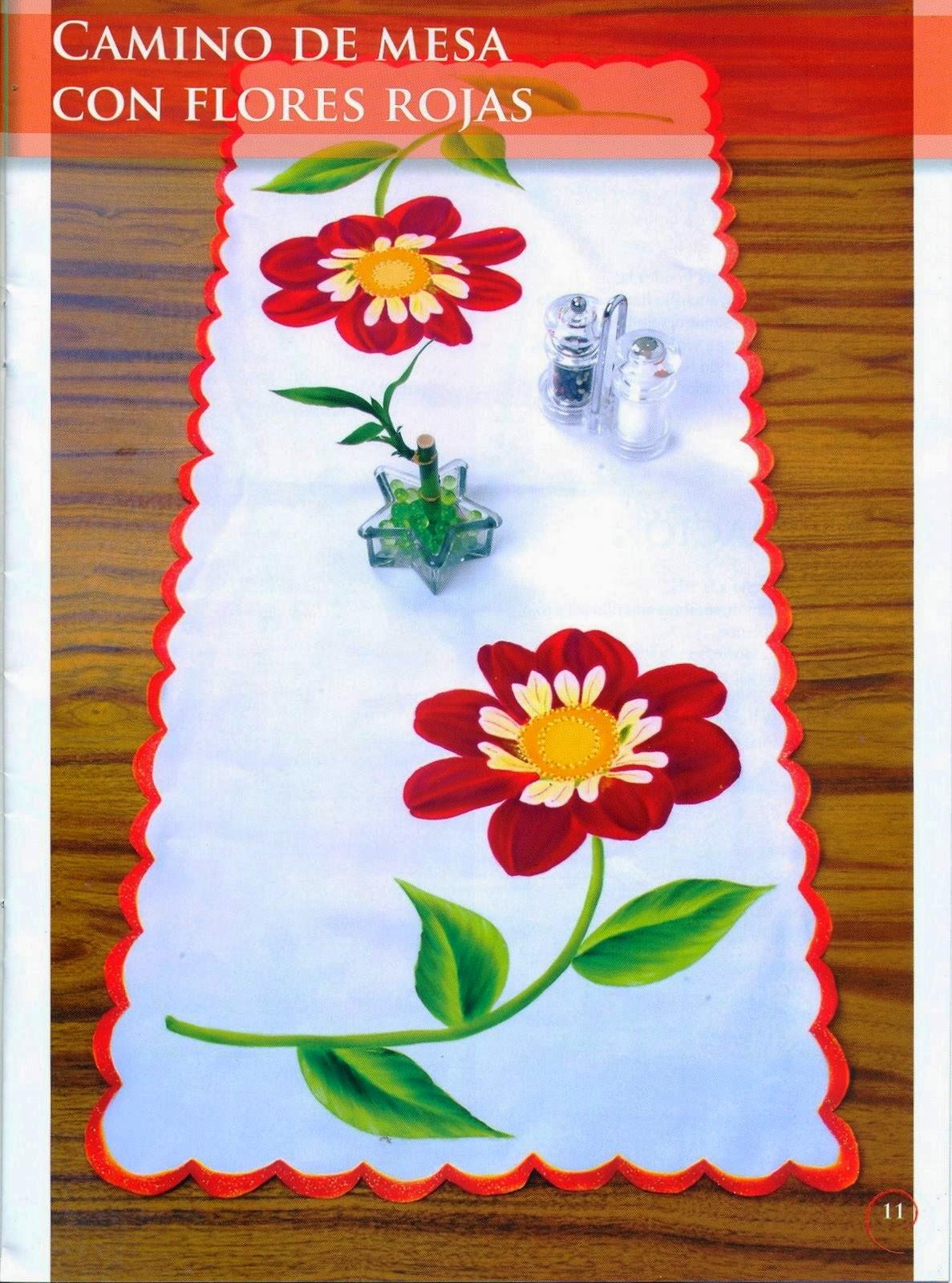 Como Pintar Flores En Tela Revista Gratis Cursos Y Tutoriales