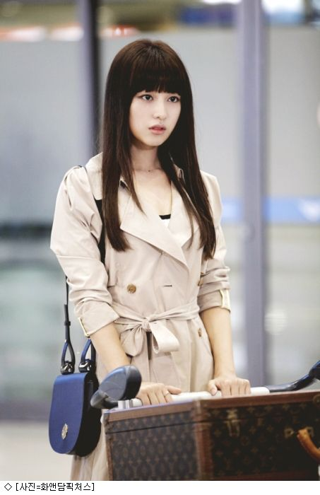 kim ji won long brown hairstyle in the heirs