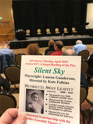 Staged reading of Silent Sky, about Henrietta Leavitt, at APS Meeting in Denver (Source: Palmia Observatory)