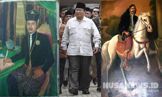 Ini Garis Keturunan Silsilah Prabowo dari Sultan Agung Mataram dan Sultan Hamengkubuwono I