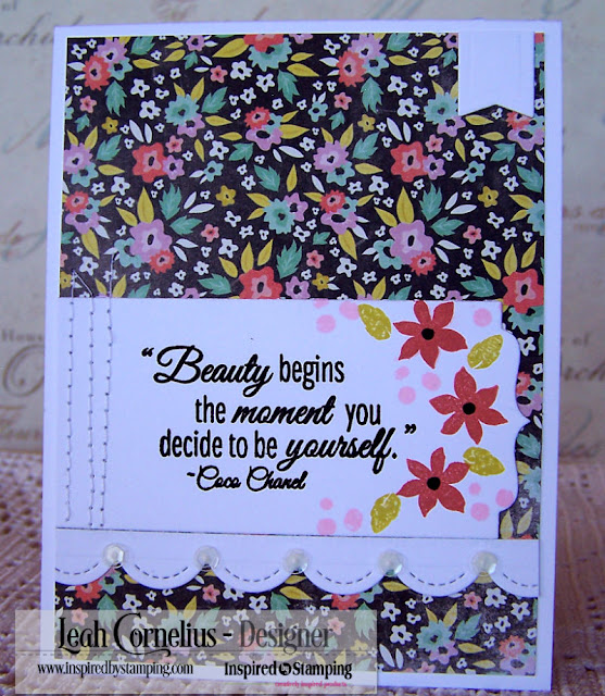 Inspired By Stamping, Leah Cornelius, Beautiful You, rubber stamping, cards