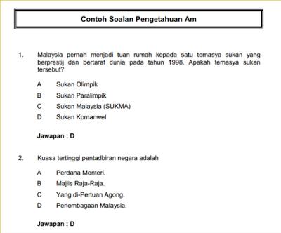 Soalan Pengetahuan Am Malaysia 2019 Selangor T