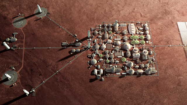 SpaceX Mars City - mid-size