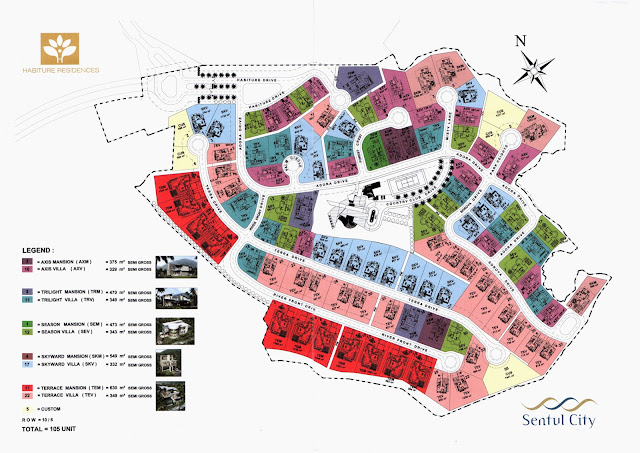 Cluster_Habiture_Residences_Sentul_City_Siteplan
