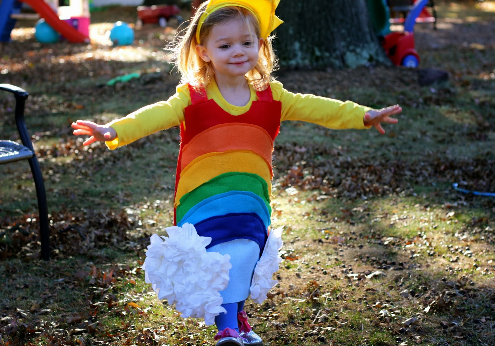 sc 1 st  The Chirping Moms & DIY Rainbow Costume - The Chirping Moms