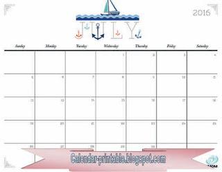 Free Printable Calendar July 2017