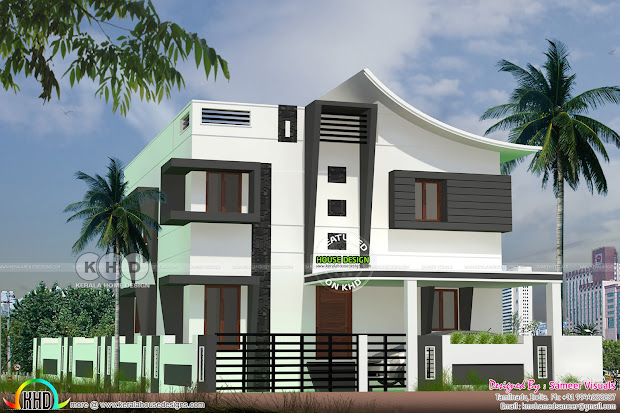 200 Square Meter Mixed Roof Home - Kerala Design And