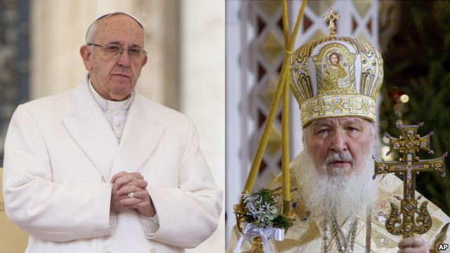 Pertama Kalinya dalam Sejarah: Paus Fransiskus dan Patriark Kirill Bertemu