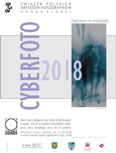 """Fotografia odklejona w Galerii Katowice ZPAF. Wystawa """"Cyberfoto 2018"""" w katowickiej Galerii ZPAF."""