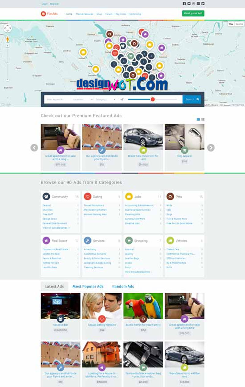 FLATADS Classified Ads WordPress Theme