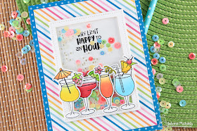 Happy Hour Shaker Card by Juliana Michaels featuring Cocktail Mixers Stamp Set by Newton's Nook Designs