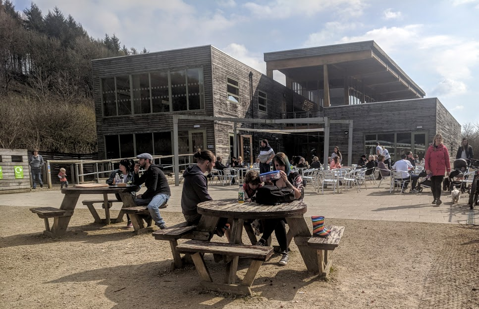 A Chilled Weekend Break with Friends & Tweens in North Yorkshire  - visitor centre, outdoor terrace and picnic area at Dalby Forest