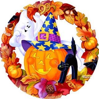 Dibujo alusivo a Halloween o Día de las brujas