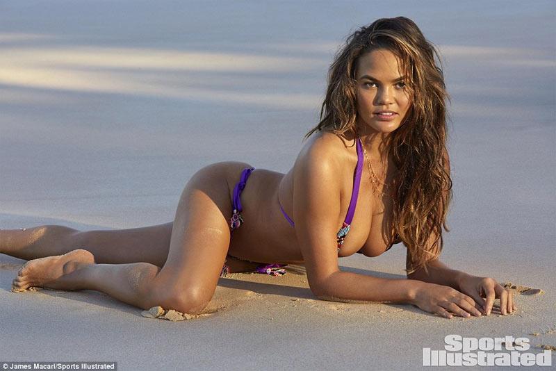 Chrissy Teigen in bikini shoot as she covers Sports Illustrated