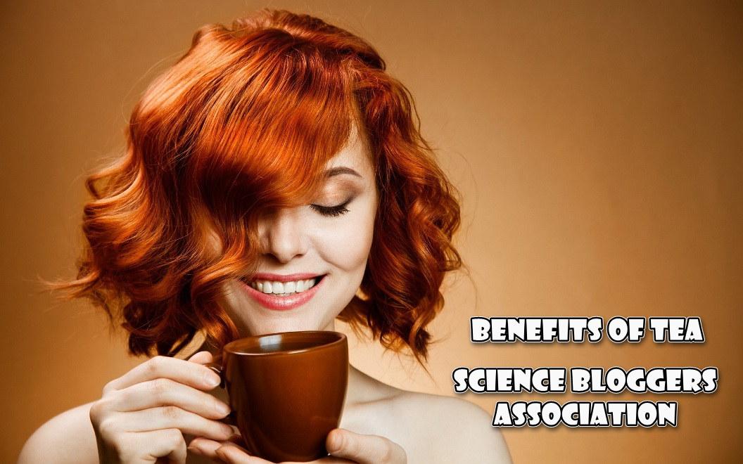 Good morning hot tea drinking girl